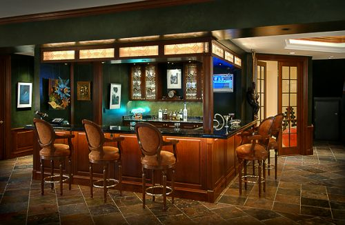 Custom Cabinetry, Traditional Design, custom glass, custom lighting