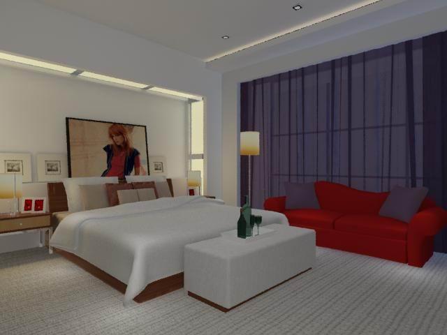 Area rug, custom furniture, custom lighting