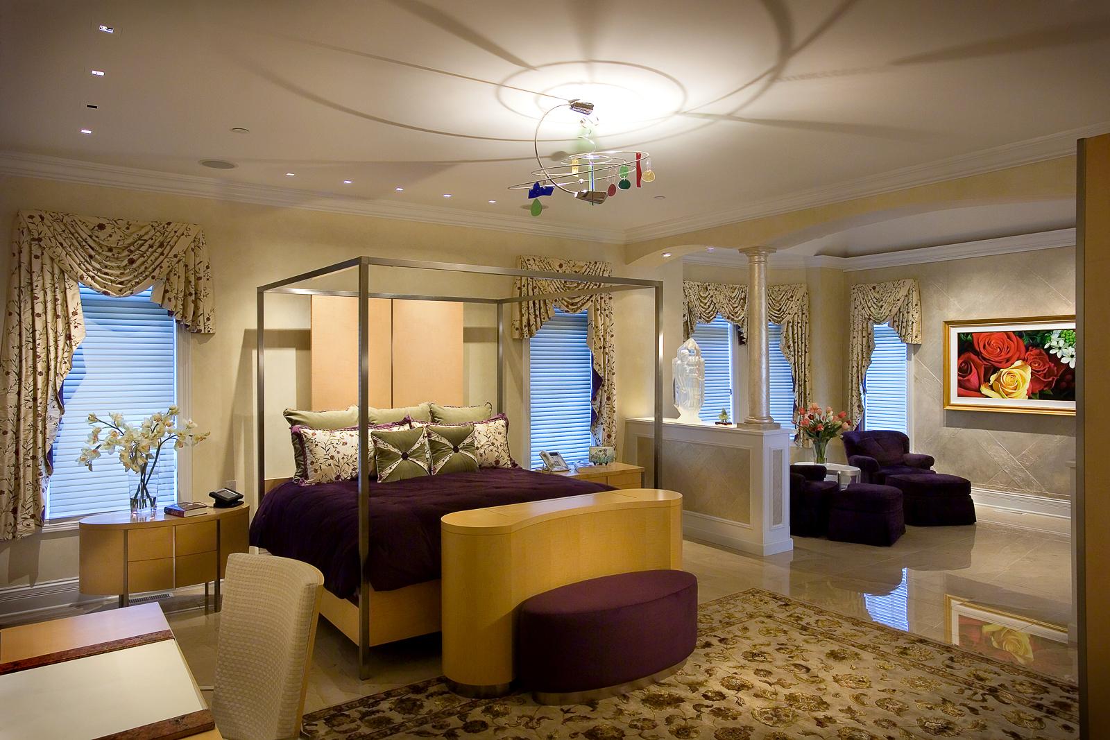 custom furniture, stone floors, area rug,