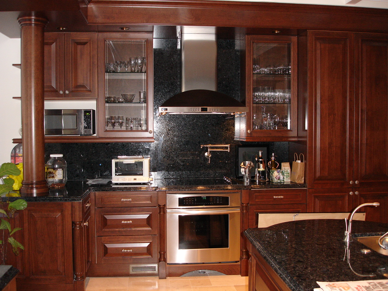 custom cabinets, granite countertops, stainless appliances